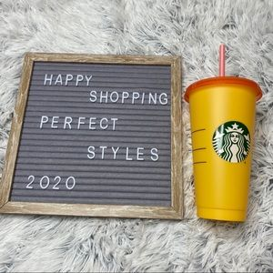 Starbucks Color Changing Marigold Single Cup